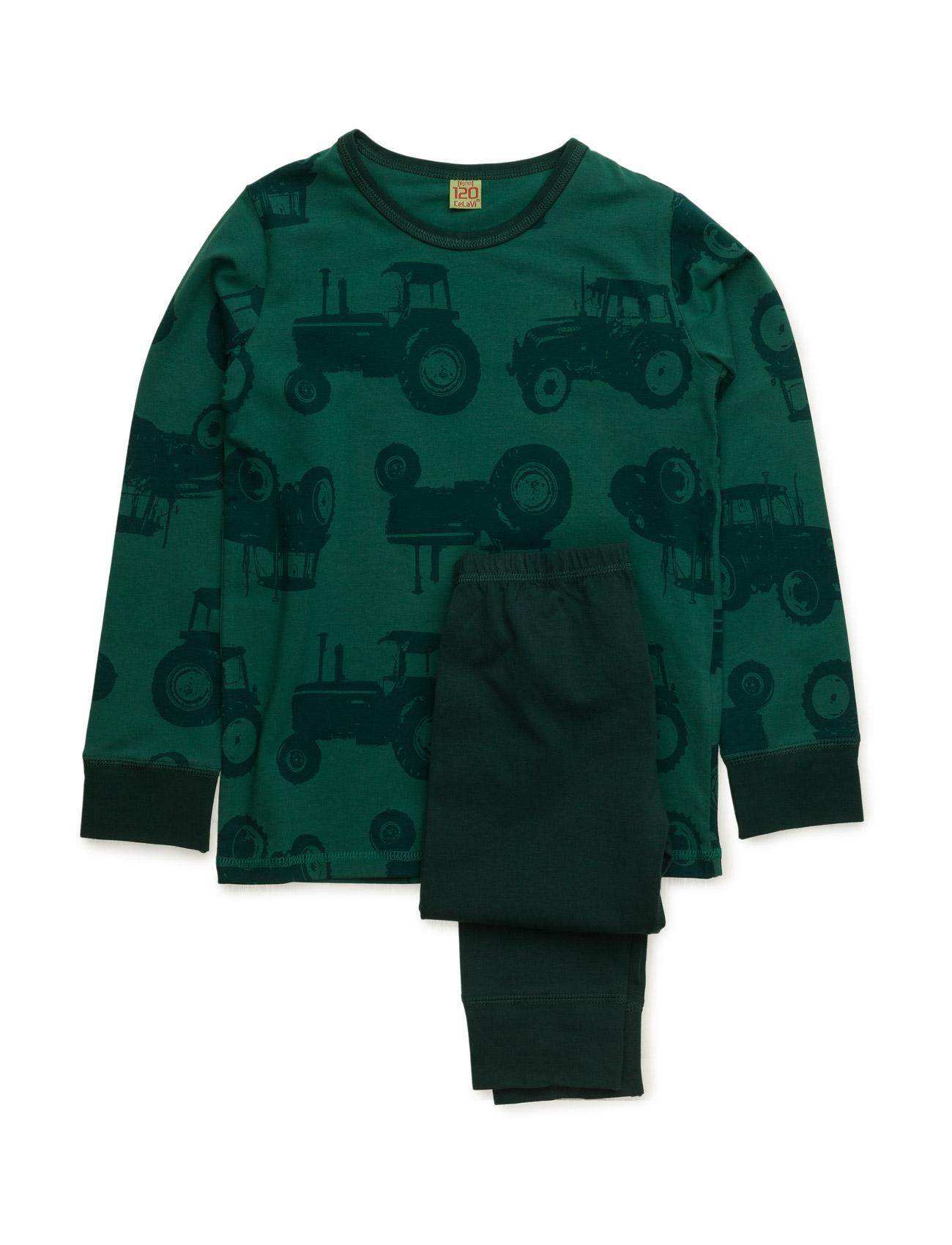 Pyjamas With Aop CeLaVi Pyjamas til Børn i Mørkegrøn