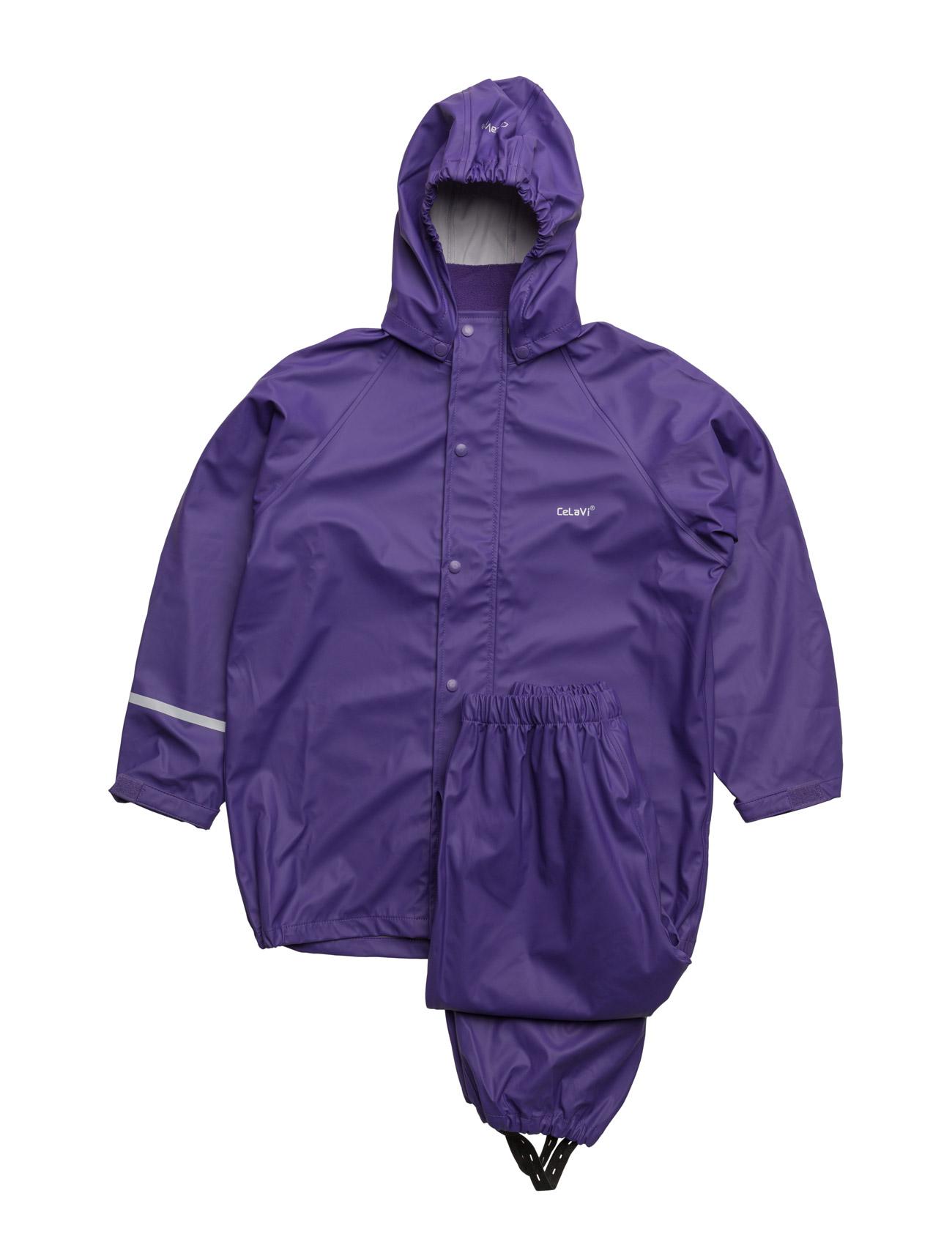 Basic Rainwear Suit -Solid CeLaVi Regntøj til Børn i
