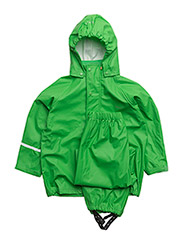 Basci rainwear set, solid - Green
