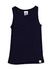 Undershirt NS -coloured wool - DARK NAVY
