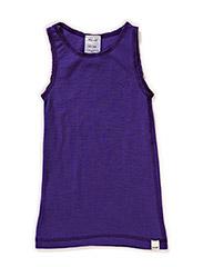 Undershirt NS -coloured wool - VIOLET