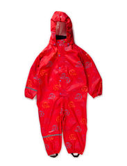 Rainwear suit - PU w. elephant - Red