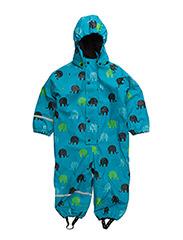 Rainwear suit -AOP w.fleece - HAWAIIAN OCEAN