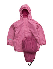 Rainwear -solid w.fleece - VERY BERRY