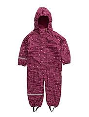 Rainwear suit -AOP w.fleece - VERY BERRY