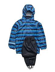 Rainwear suit -PU w. AOP - NAVY