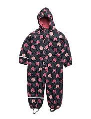 Rainwear suit -AOP with fleece and fleece-lining - RAPTURE ROSE