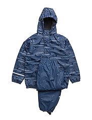 Rainwear -AOP with fleece - TRUE BLUE