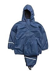 Rainwear -solid with fleece and fleece-lining - TRUE BLUE