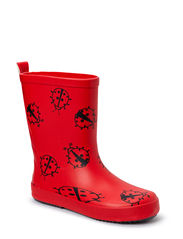 Wellies w. animals - Red