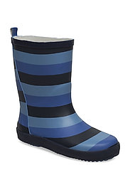 Wellies w. AOP - BLUE