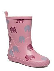 Wellies w. AO-elephants - ROSE