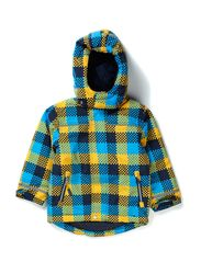 Ski jacket, checked - Ligth blue