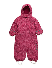 Snowsuit -Print w. 2 zippers - VERY BERRY