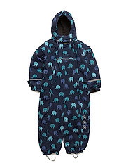 Snowsuit -elephant with 2 zippers - NAVY