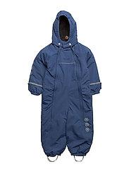 Snowsuit -elephant with 2 zippers - TRUE BLUE