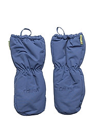 Padded mittens -solid - TRUE BLUE