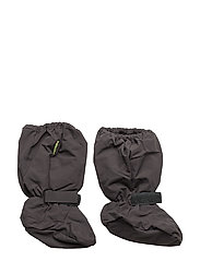 Padded soft footies -solid - GREY BLACK