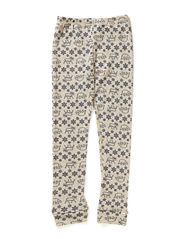 Long johns AO-printed wool - Iceblue