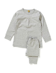 Pyjamas with dots - Grey melange