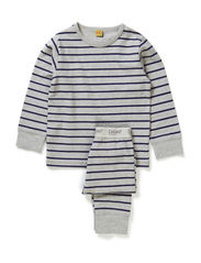 Pyjamas with stripes - Grey melange