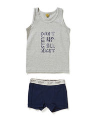 Boys underwear set with print - Dark Navy