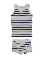 Boys underwear set with print - Grey melange