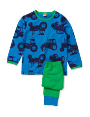 Pyjamas with tractors - Green