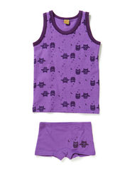 Girl underwear set with print - Purple
