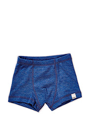 Boxer shorts, solid wool - BLUE MELANGE