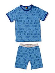 Pyjamas SS with cars - Parisian Blue