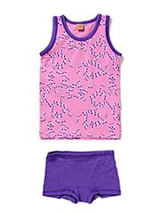 Underwear set with girl print - Violet