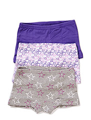 Hipsters with girl print (3-pack) - Ultra Violet