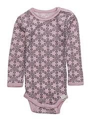 Body LS AO-printed wool - LIGHT ROSE