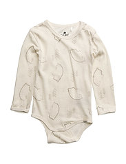 Body LS AOP -wool/bamboo - OFFWHITE