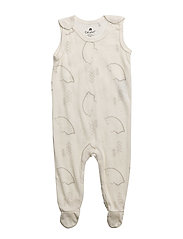 Romper AOP -wool/bamboo - OFFWHITE