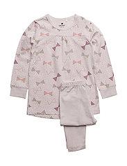 Pyjamas w. AOP - GRAY LILAC