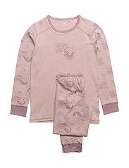 Pyjamas w. AOP - VIOLET ICE