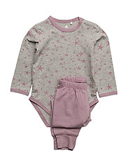Baby Pyjamas Set -AOP - ELDERBERRY