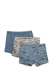 Boxer-shorts w.print (3-pack) - FADED DENIM