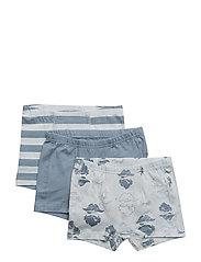 Boxer-shorts w.print (3-pack) - BALLAD BLUE