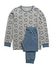 Pyjamas w.AOP - CAPTAIN'S BLUE