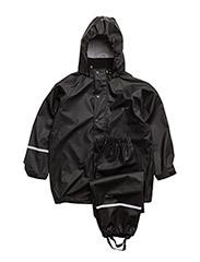 Basic rainwear suit -solid - Black style 1145