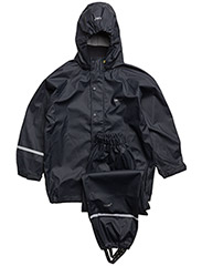 Basic rainwear suit -solid - Navy