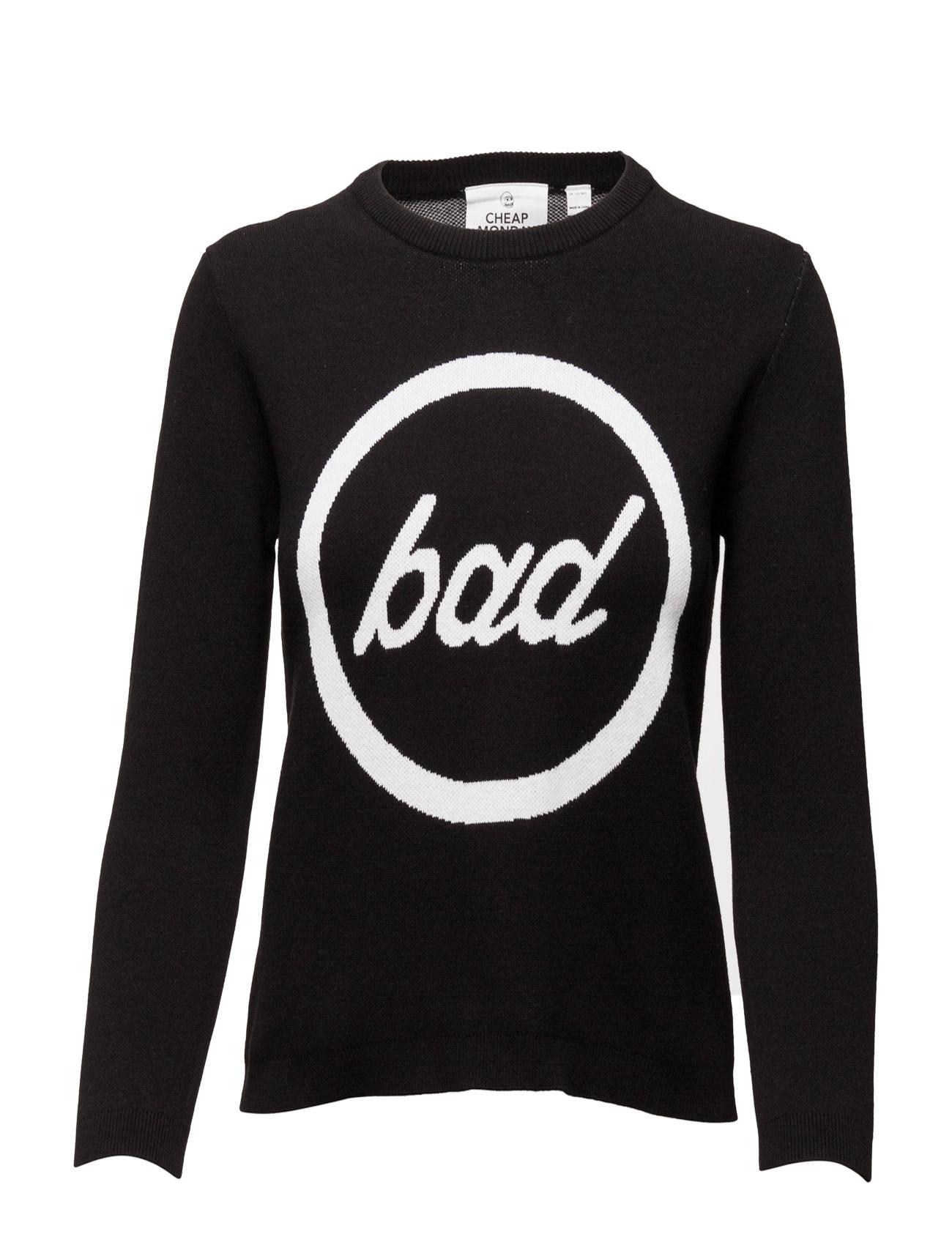 Total Knit Bad Cheap Monday Sweatshirts til Damer i Sort
