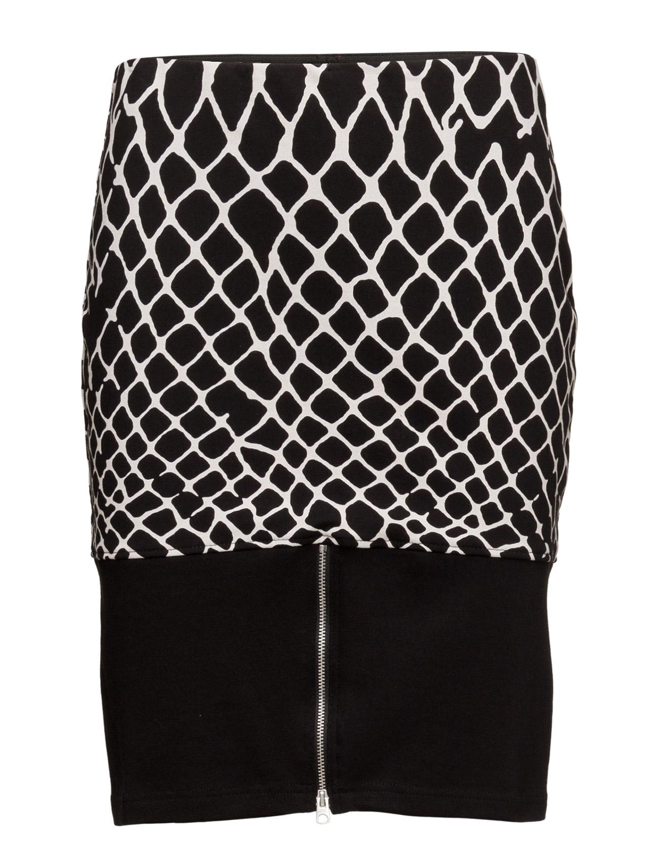 Fence Skirt Print Cheap Monday Korte til Damer i Sort
