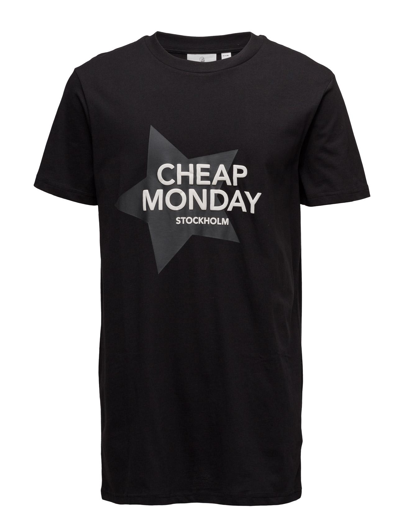 Dragged Tee Cheap Star Cheap Monday T-shirts til Mænd i Sort