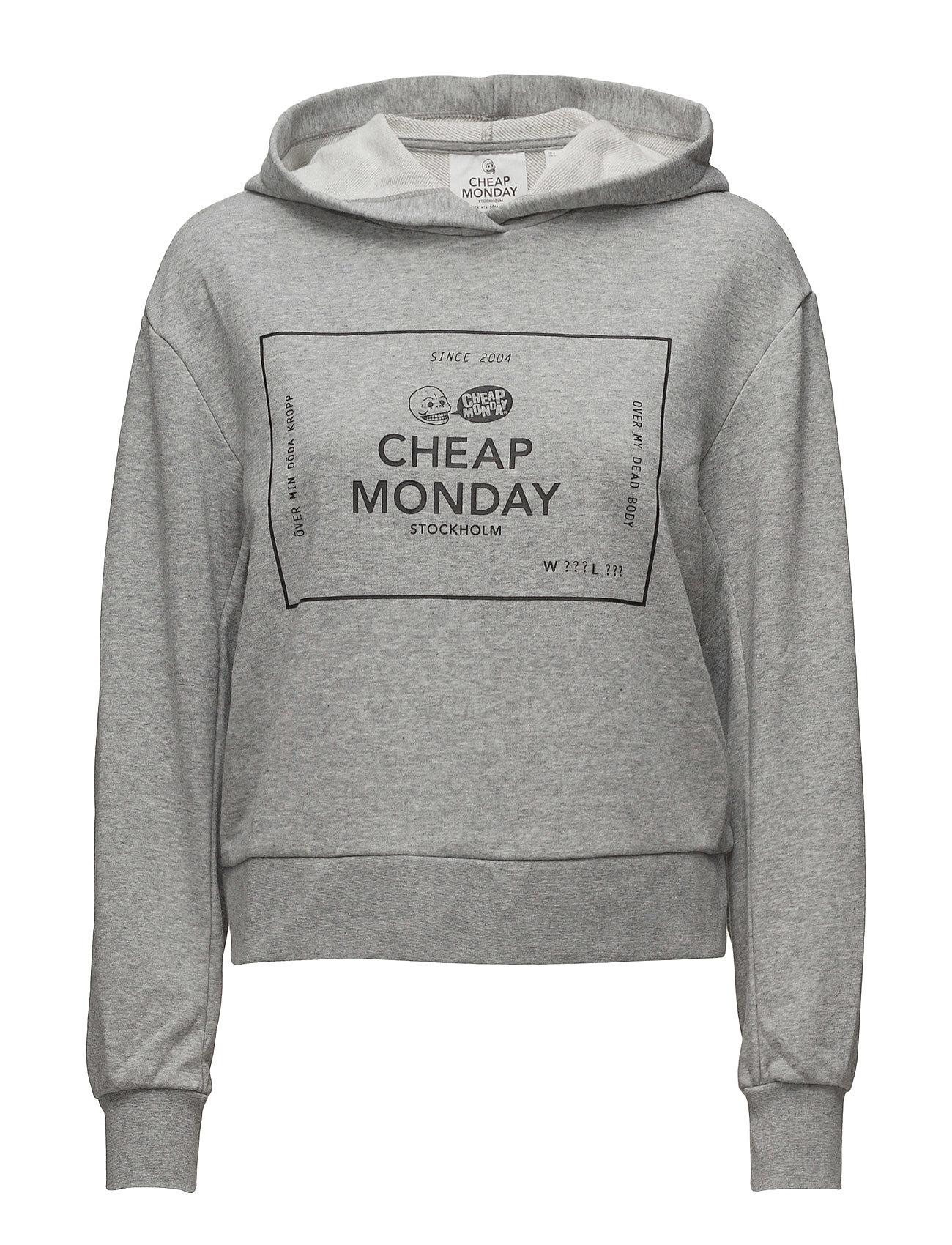 Attract Hood Box Logo Cheap Monday  til Damer i Grey Melange