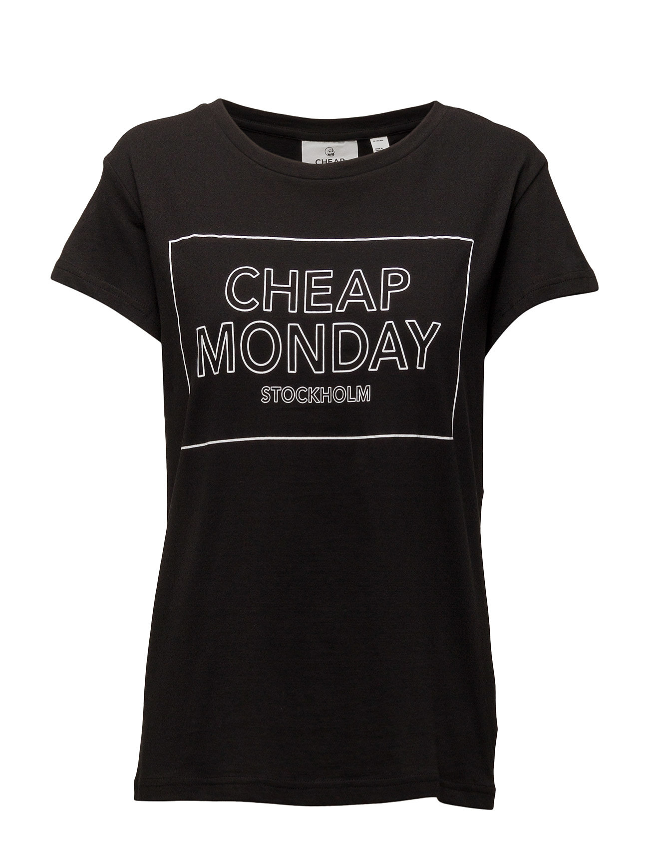 Have Tee Thin Logo Cheap Monday Kortærmede til Damer i Sort