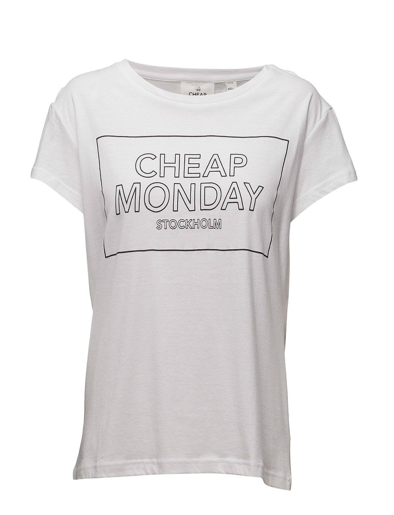 Have Tee Thin Logo Cheap Monday Kortærmede til Damer i hvid
